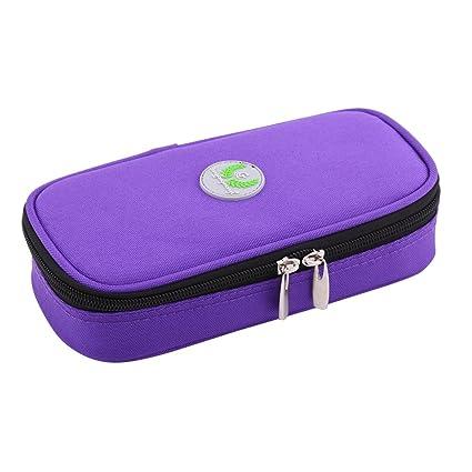 Zerodis - Estuche de Viaje para refrigerador de insulina portátil, Organizador diabético, Bolsa de refrigeración médica para Viajes al Aire Libre ...