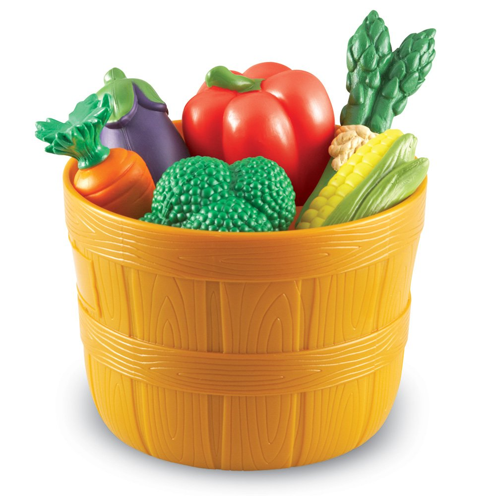 Learning Resources New Sprouts Bushel of Veggies, 9 Colorful Veggies, Ages 18 mos+ by Learning Resources
