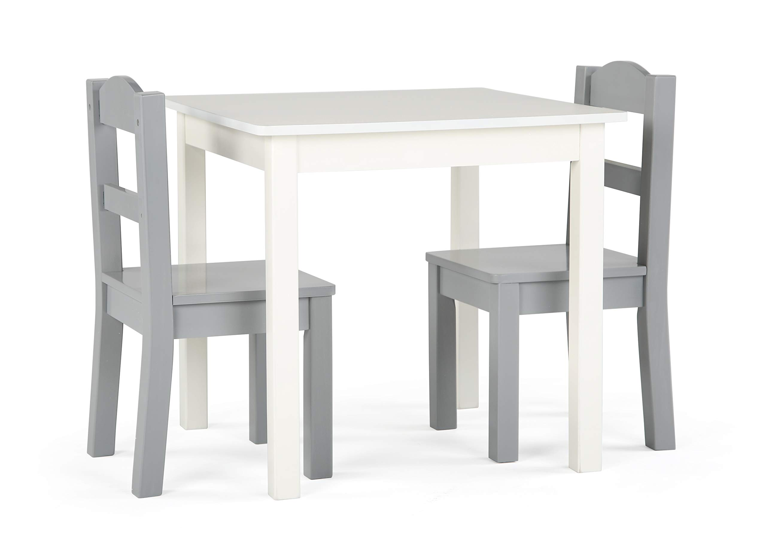 Tot Tutors Table and Chair, 3-Piece, Grey/White by Tot Tutors