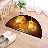 NALAHOMEQQ Polyster Non-slip Indoor Outdoor Ramadan Kareem. Islamic background. lamps for Ramadan Outside Front Door Mat Carpet(35.4x23.6 INCH)