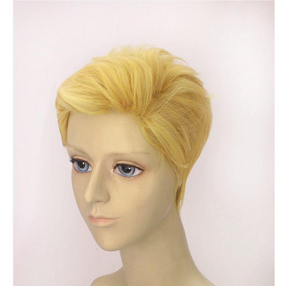 BERON Men Boys Short Blonde Cosplay Wigs-Rose Intranet by BERON (Image #2)