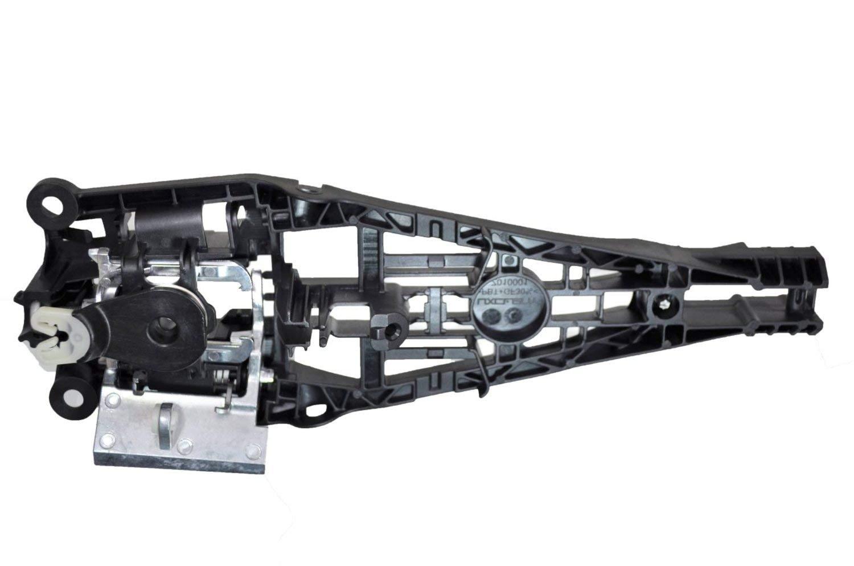 PT Auto Warehouse GM-3563-2FR Front Right Passenger Side Black Exterior Outer Outside Door Handle Reinforcement Bracket ONLY