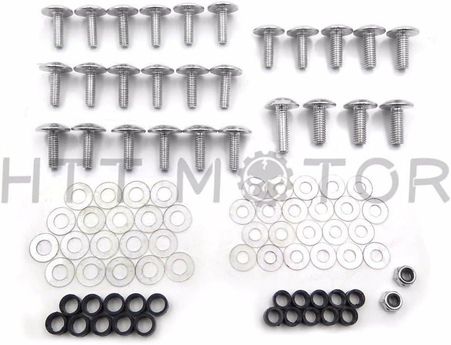 B00YWCUIFY XKMT-Silver Round Fairing Bolts Screw Kit Compatible with 1993 1994 1995 1996 1997 1998 1999 Honda CBR 900RR//2000 2001 Honda CBR 929RR//2002 2003 Honda CBR 954RR