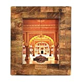 Indian Heritage Wooden Photo Frame 8x10 Mango Wood Block Design in Dark wood Finish