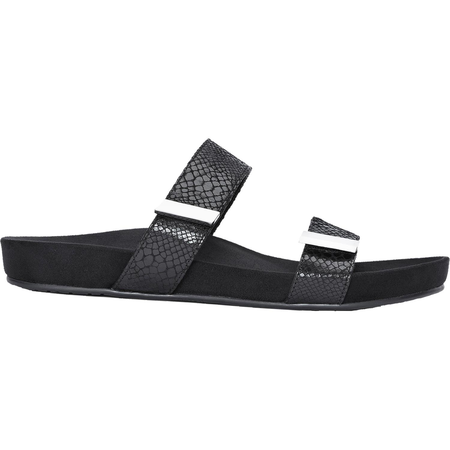 Vionic Womens Grace Jura Slide Sandal Black Snake Size 11 by Vionic
