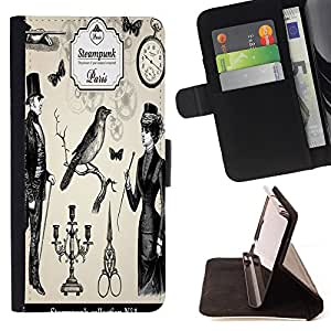 Jordan Colourful Shop - FOR Sony Xperia Z3 Compact - Live quietly - Leather Case Absorci¨®n cubierta de la caja de alto impacto