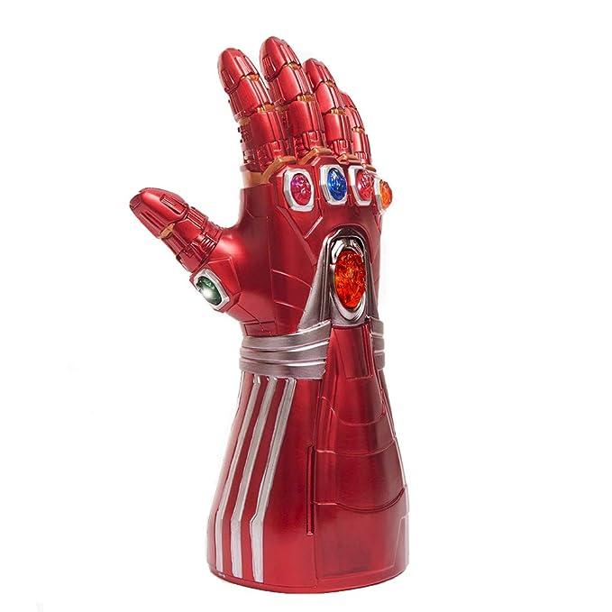yacn Iron Man Guantelete de Los Vengadores Endgame Iron Man Infinity Stone Guante iluminado (guante para adultos)