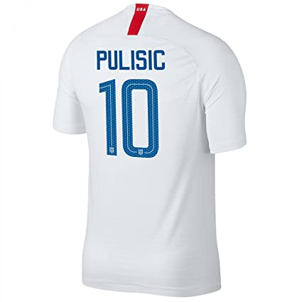 12601bd81 Amazon.com   USA 2018 Home Soccer Jersey Pulisic  10 Size Adult S   Sports    Outdoors