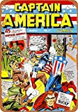 Wall-Color 7 x 10 METAL SIGN - Captain America #1 - Vintage Look Reproduction