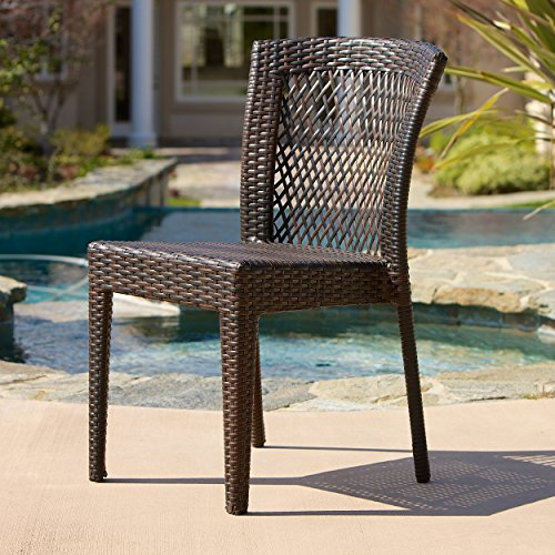 Dana Point Outdoor Patio Furniture Brown Wicker Chairs (Set of 2) from Christopher Knight Home