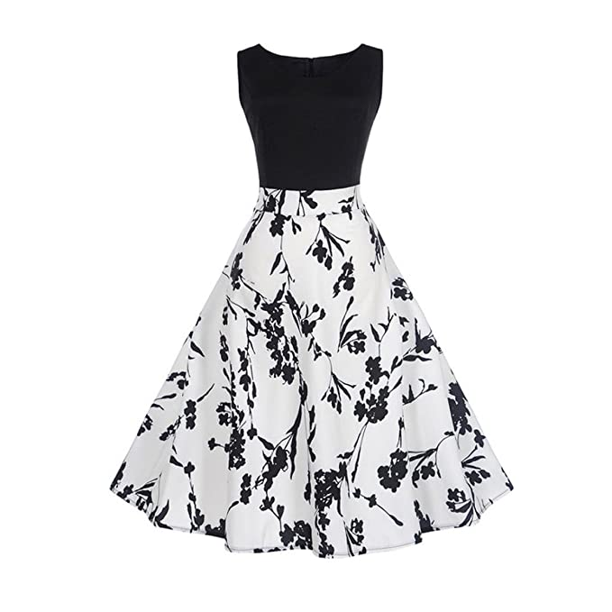 Damen Sommerkleider Hemdkleid,Jaminy Frauen Vintage Printing Bodycon ...