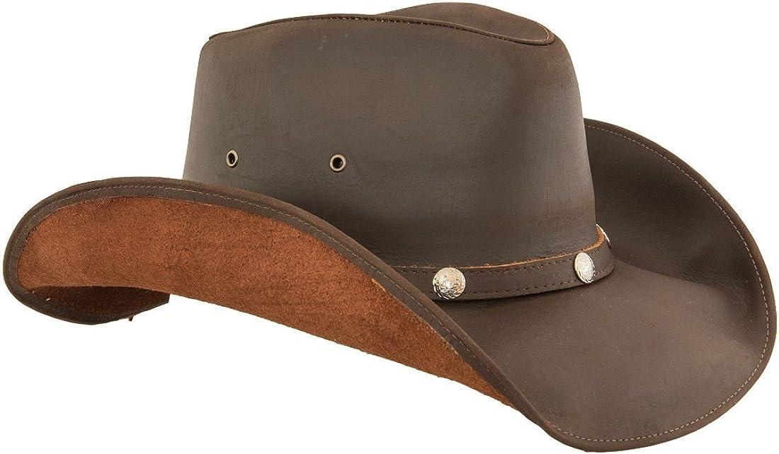 best place super cute wholesale dealer Lucky Trails Men's Dakota Shapeable Leather Western Cowboy Hat at ...