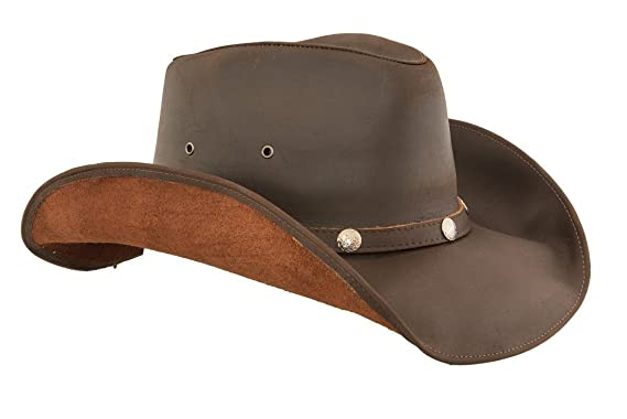 53edf5d36bb0a Image Unavailable. Image not available for. Color  Lucky Trails Men s  Dakota Shapeable Leather Western Cowboy Hat