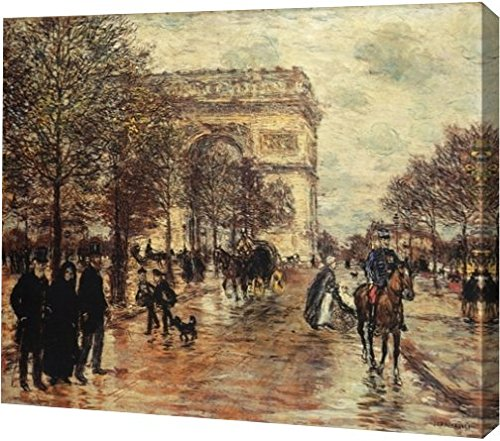 Arc Wall - The Champs-Elysees, The Arc de Triomphe by Jean-Francois Raffaelli - 12