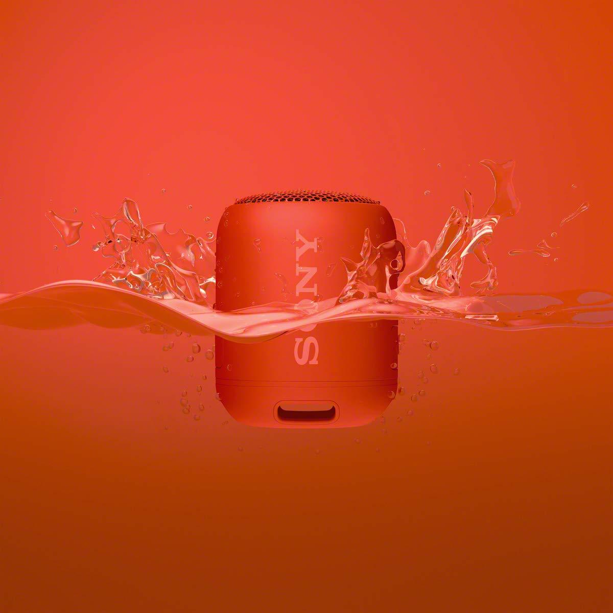 Sony SRS-XB12R - Altavoz inalámbrico portátil (Bluetooth, Extra Bass, diseño portátil, batería hasta 16h, Resistente al Agua y Polvo IP67) Rojo: Amazon.es: ...