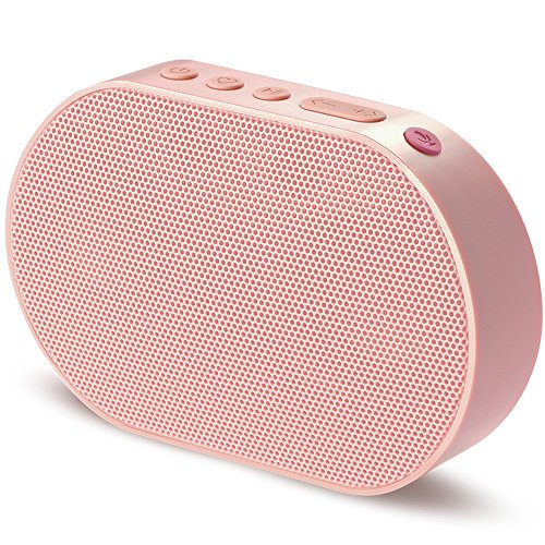 GGMM E2 Portable WiFi Bluetooth Speaker with Amazon Alexa Voice Control, Multi-Room Play, Online Streaming Music, Smart Stereo Speaker, Wireless Airplay Speaker with 10W Powerful Stereo Sound (Pink)