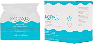product image for Kopari Love Melt Massage Oil for Men, Women, Couples, Made with Organic Coconut Oil, Aloe Vera & Chamomile, Vegan, Silicone Free, Cruelty Free & Petroleum Free, Vanilla Flavored, 15 Packets