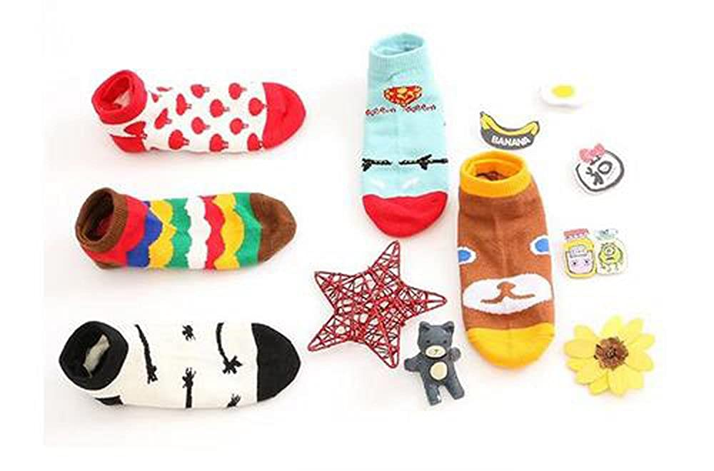 Jasmine Soft Cotton Bright Colored Socks for 3-5 Years Kids Unisex