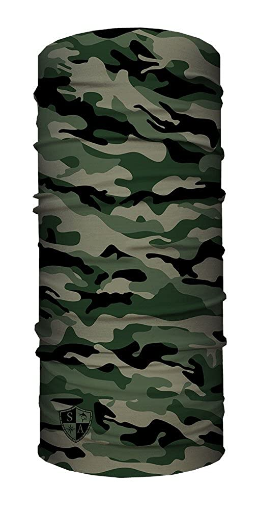 SA Face Shield Fascia Bandana Maschera Green Military Camo - L'ORIGINALE - 50359