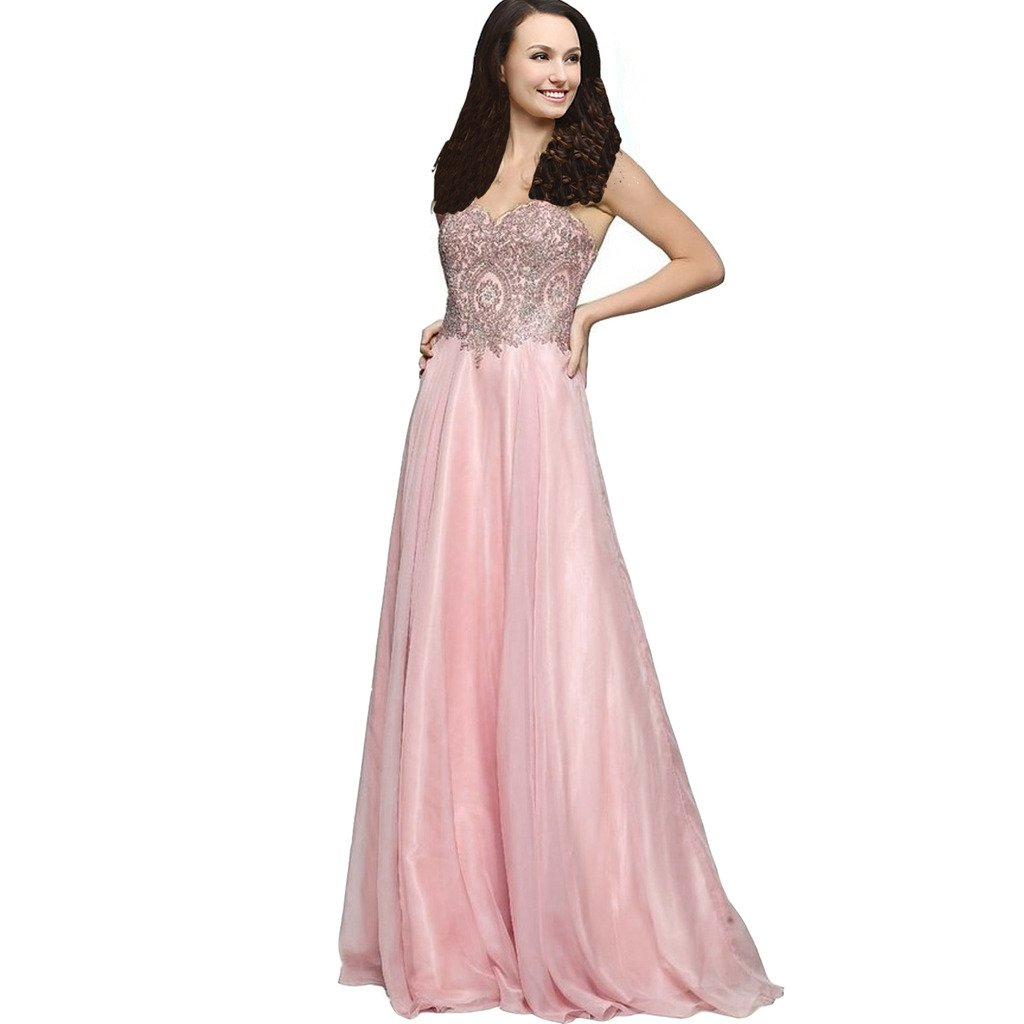 Amazon.com: Lemai Line Chiffon Crystals Gold Lace Long Formal Prom Gowns Evening Dresses: Clothing