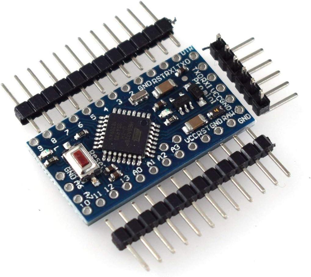 Azul JohnJohnsen HW-436C Pro Mini M/ódulo ATMEGA328P 5V 16M 16mhz para Arduino Nano Microcontrol Micro Control Board M/ódulo