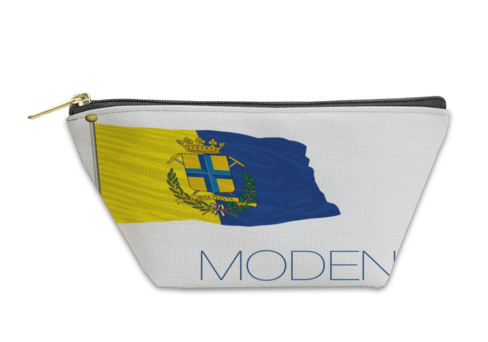 Gear New Accessory Zipper Pouch, Modena City Flag With Coat Of Arms Italy, Large, 6006310GN