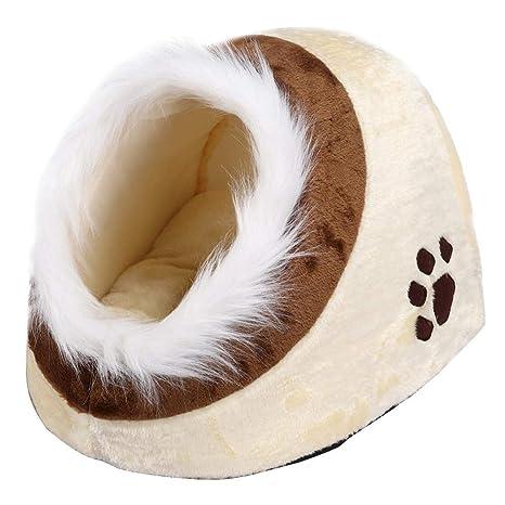 yahee gato cueva cueva Manta cueva Perros y Gatos Cesta mascota cama con suave y cómodo almohada