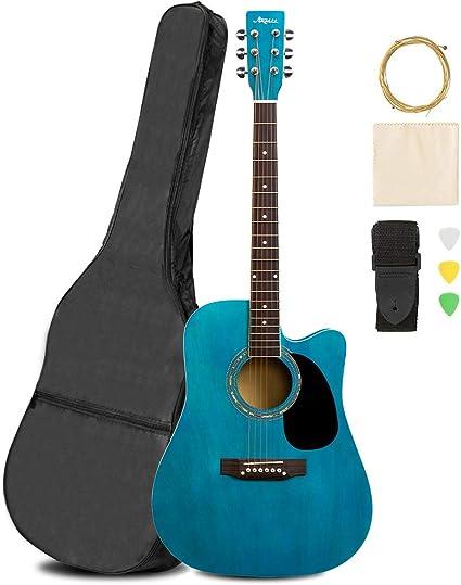 ARTALL Kit de principiante de guitarra acústica de madera maciza ...