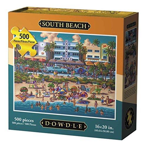 Dowdle Folk Art South Beach Jigsaw Puzzle (500 Piece)