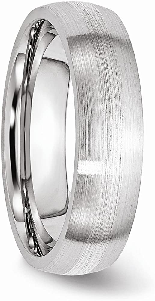 Jewels By Lux Cobalt Sterling Silver Inlay Satin 6mm Band