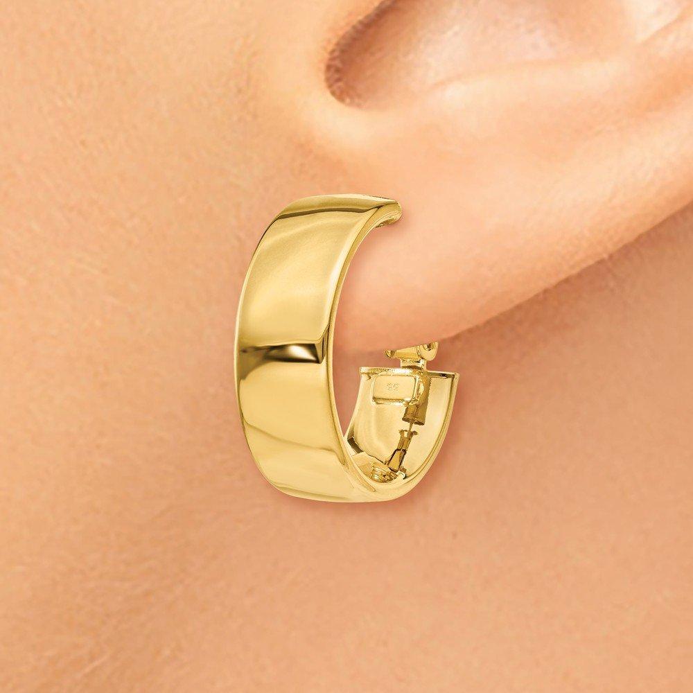 14k Yellow Gold Hoop Earrings Fine Jewelry Ideal Gifts For Women 19.5x19.5mm