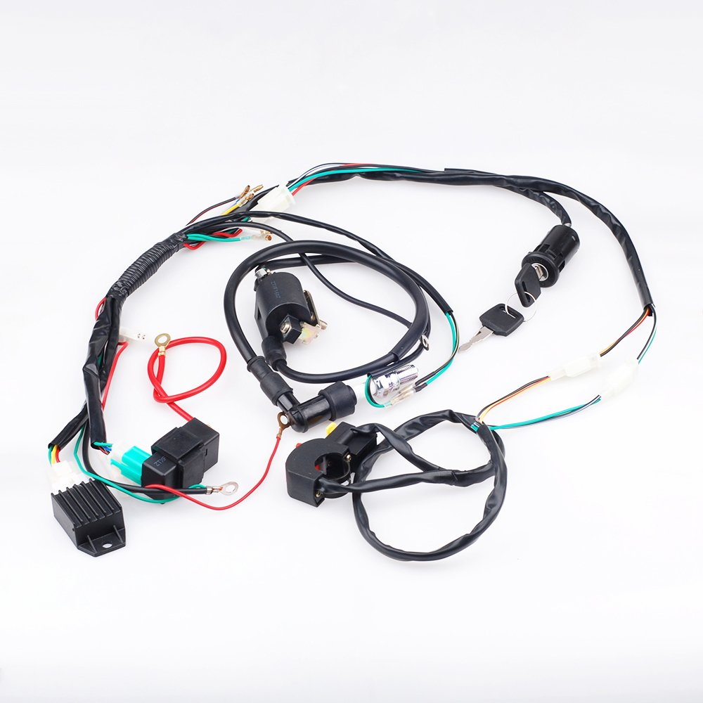Cisno Complete Electrics Cdi Coil Wiring Loom Harness Kill Switch Chinese Pit Dirt Bike 50cc 110cc 125 Kick For 125cc Atv Automotive