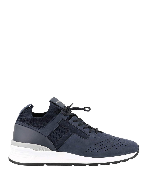 Acquista Tod's Men Sneaker Stringate Blu in camoscio e Tessuto Trainers miglior prezzo offerta