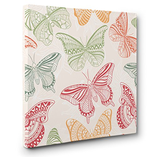 Oriental Butterfly CANVAS Wall Art Home Décor by Paper Blast