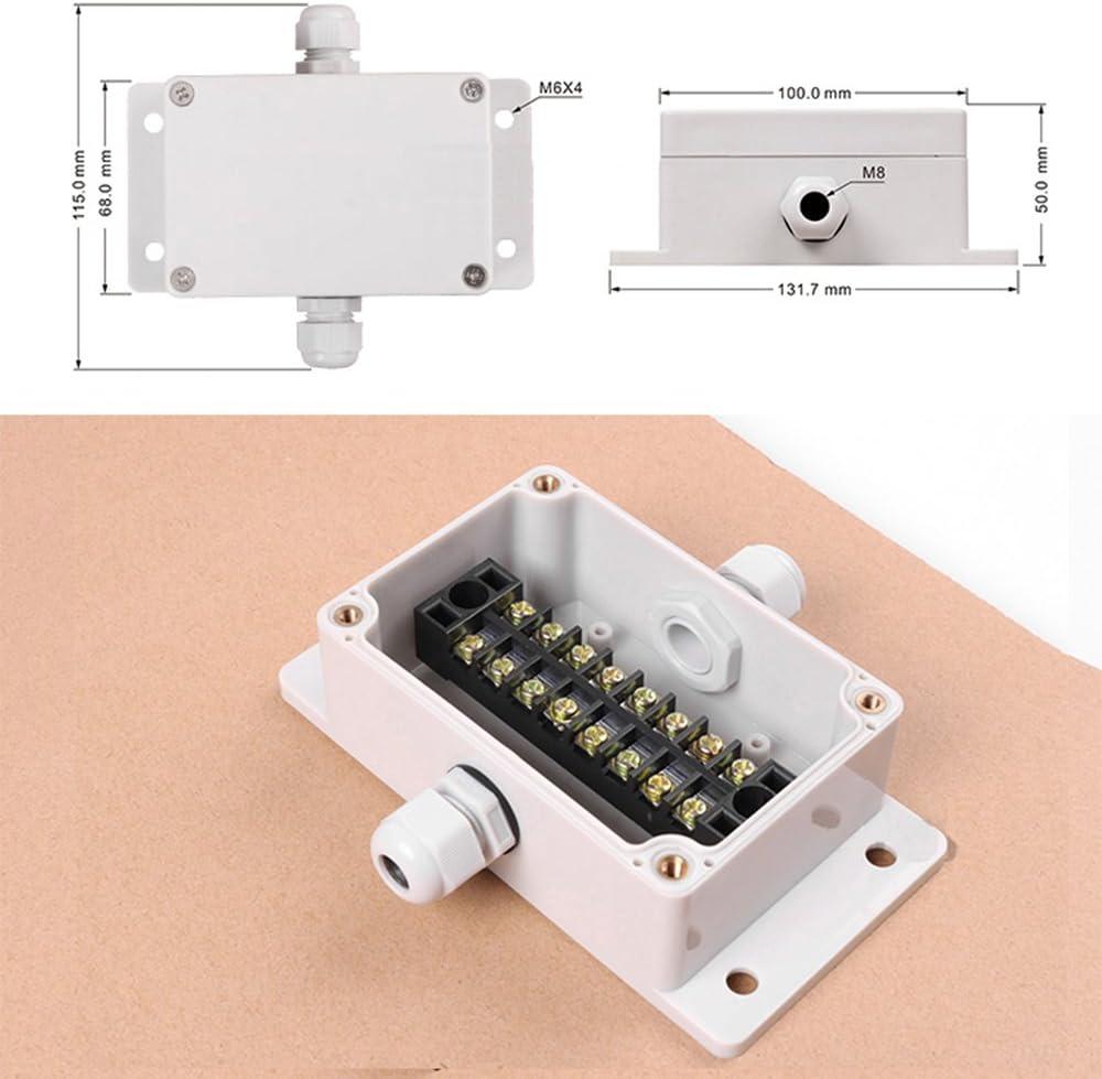 100/x 68/x 50/mm Plastique /électrique bo/îtier de montage mural support pour bo/îte de d/érivation avec connecteurs kit /étanche gris