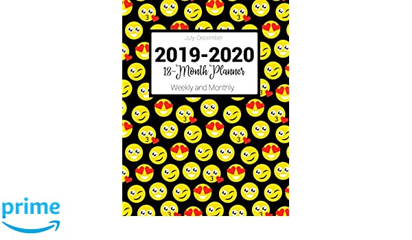 July-December 2019-2020 18-Month Planner Weekly and Monthly ...