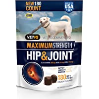 VetIQ Maximum Strength Hip And Joint Supplement For Dogs - Chicken Flavored Soft…