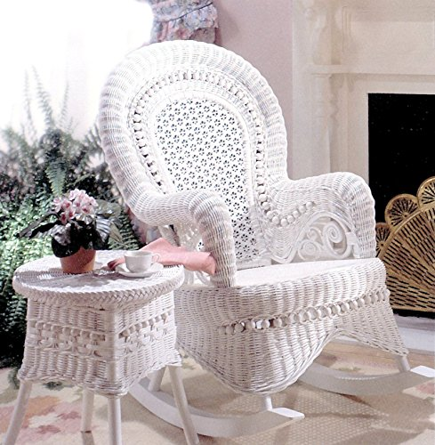 Spice Islands Country Rocker, White