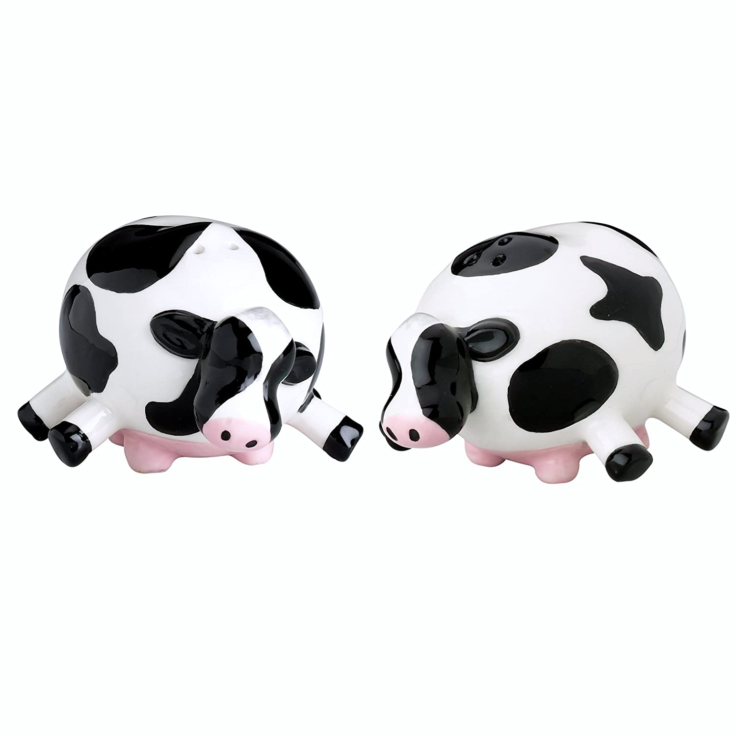 Amazon Com Boston Warehouse Udderly Cows Salt And Pepper Shaker Set Combined Pepper And Salt Shakers Kitchen Dining