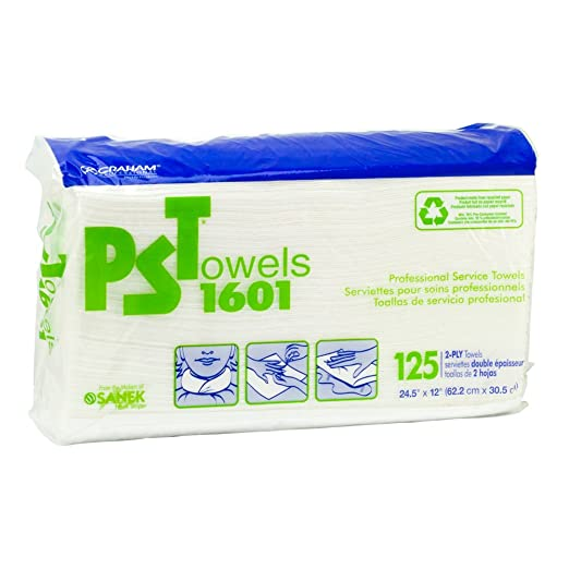 Amazon.com: Graham Professional 2 Ply Service Towels PSTowels 1601 125 Sheets Salon Products: Beauty