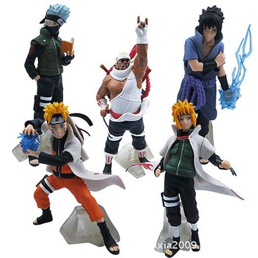 CALSD Juguetes de Personajes de Naruto - 5 escenas de Ninja ...