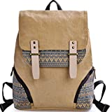 DGY Girl's Preppy Style Canvas Backpack for College Casual Travel Back Packs G00126 Khaki Review