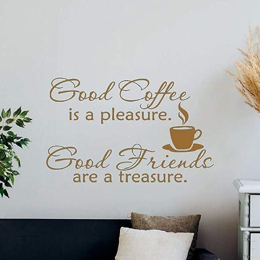 yiyiyaya Tatuajes de Pared Cartel de la Cocina El Buen café es un ...