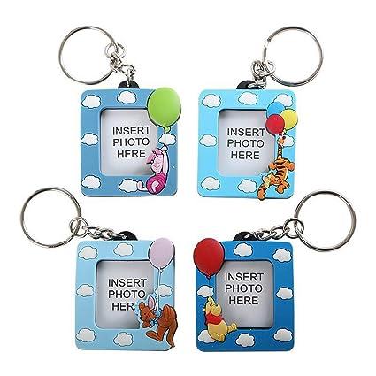 Lote de 4-Llavero con portafotos, diseño de Mickey: Amazon ...