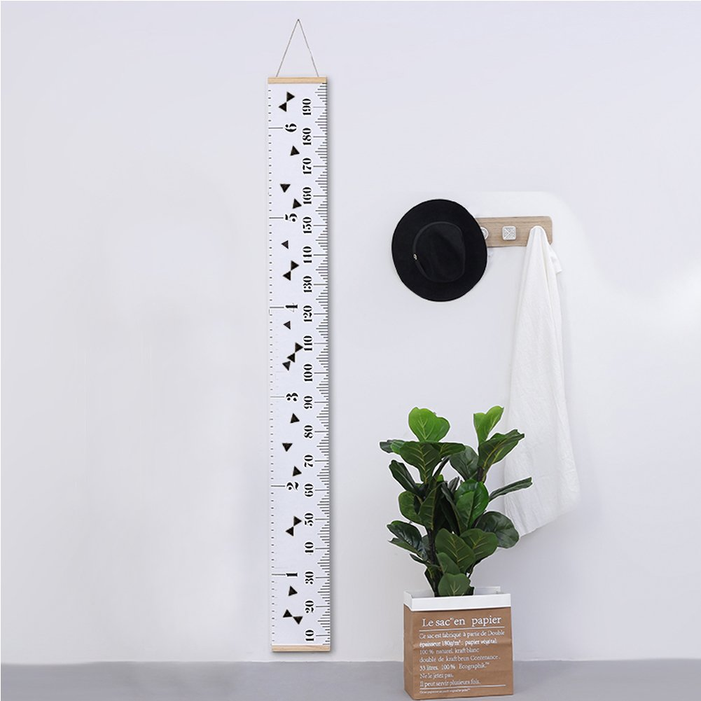 YJ.GWL Baby Growth Chart Hanging Rulers for Kids Canvas Removable Height Growth Chart Wall Decor for Child Nursery Room Christmas Decoration 79 x 7.9