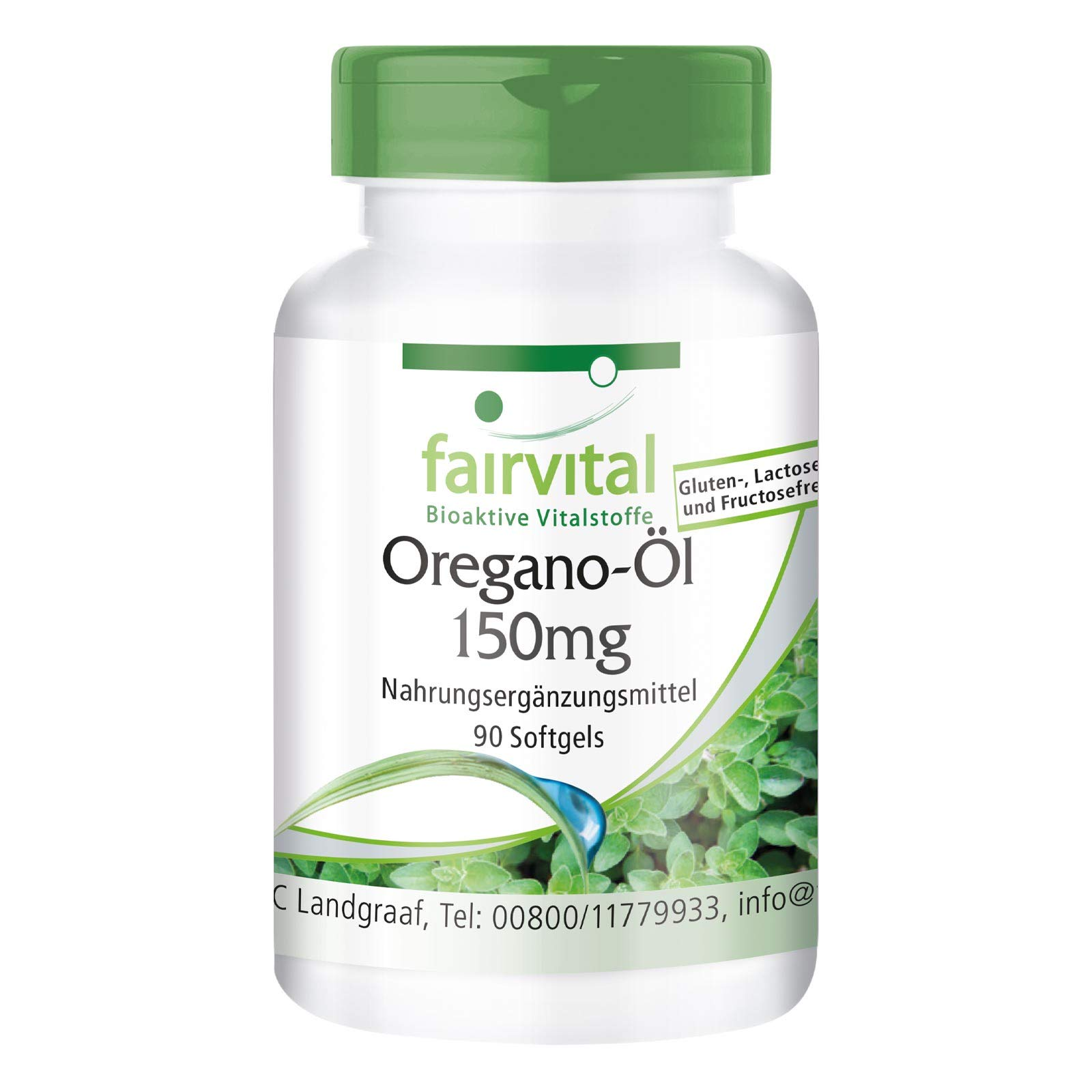 Oregano Oil 150mg - Bulk Pack for 3 Months - Origanum vulgare Extract - 90 softgels - 10-fold Concentrated