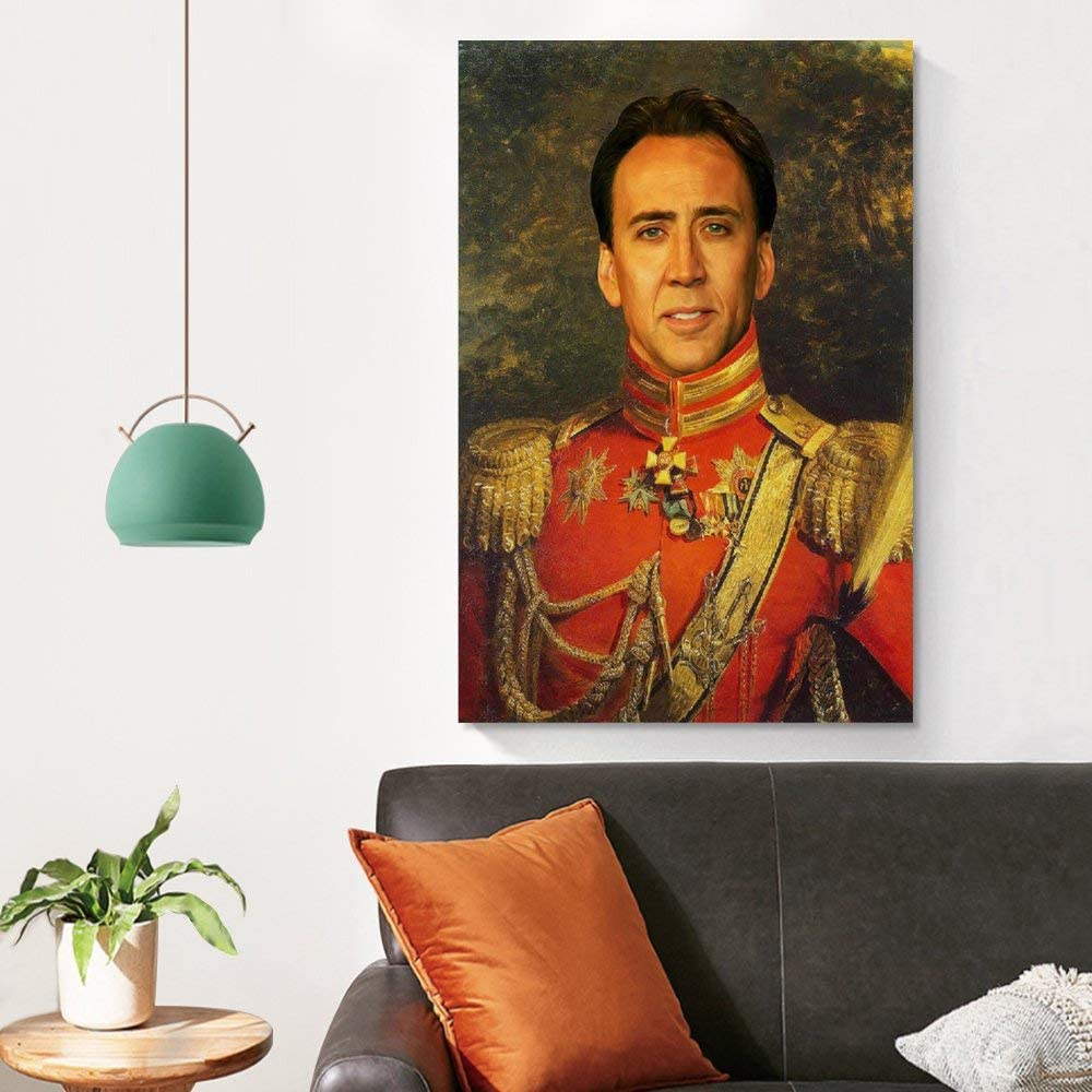 P/óster de Huihuang Nicolas Cage de 30 x 45 cm