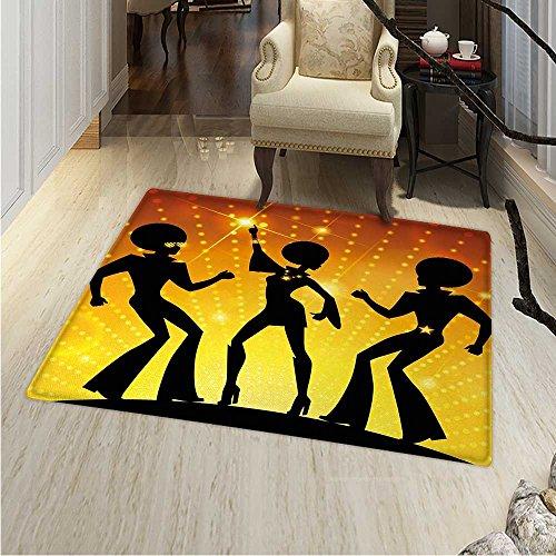 s Party Rugs Bedroom Dancing People in Disco