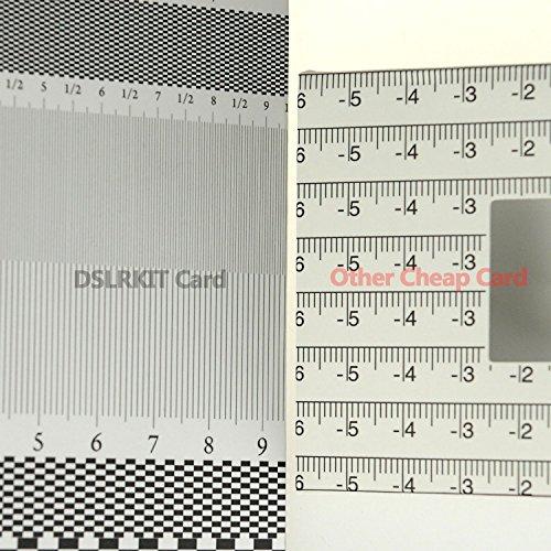 Tarjeta de plegado de la regla de alineación de la herramienta de calibración del enfoque de la lente DSLRKIT (paquete de 2)