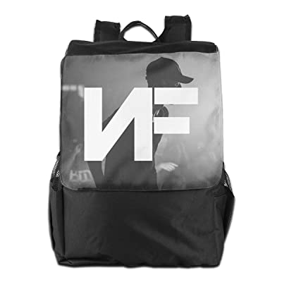 Travel Bckpack NF Rapper Logo (2) Print Custom Business Bckpack for College School Computer Bag for Women Men: Clothing